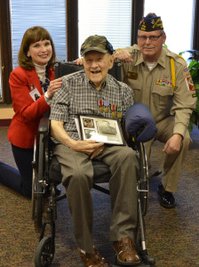 Nancy Abiade Social Worker Veteran Kenneth Miszewski and Steve Allen Volunteer Veteran 224x300 - Volunteer