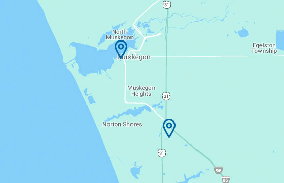 contact harbor hospice, map of muskegon county