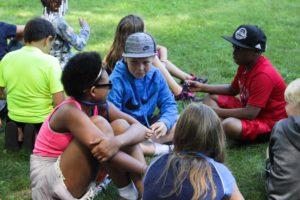 kids sitting and talking