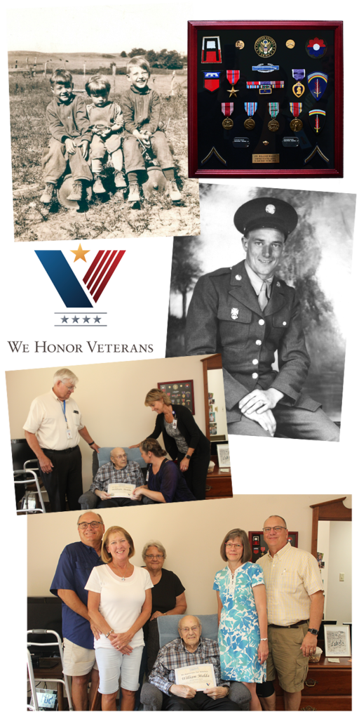 Collage of Vet Pinning 2 512x1024 - His story--and honoring him for his bravery