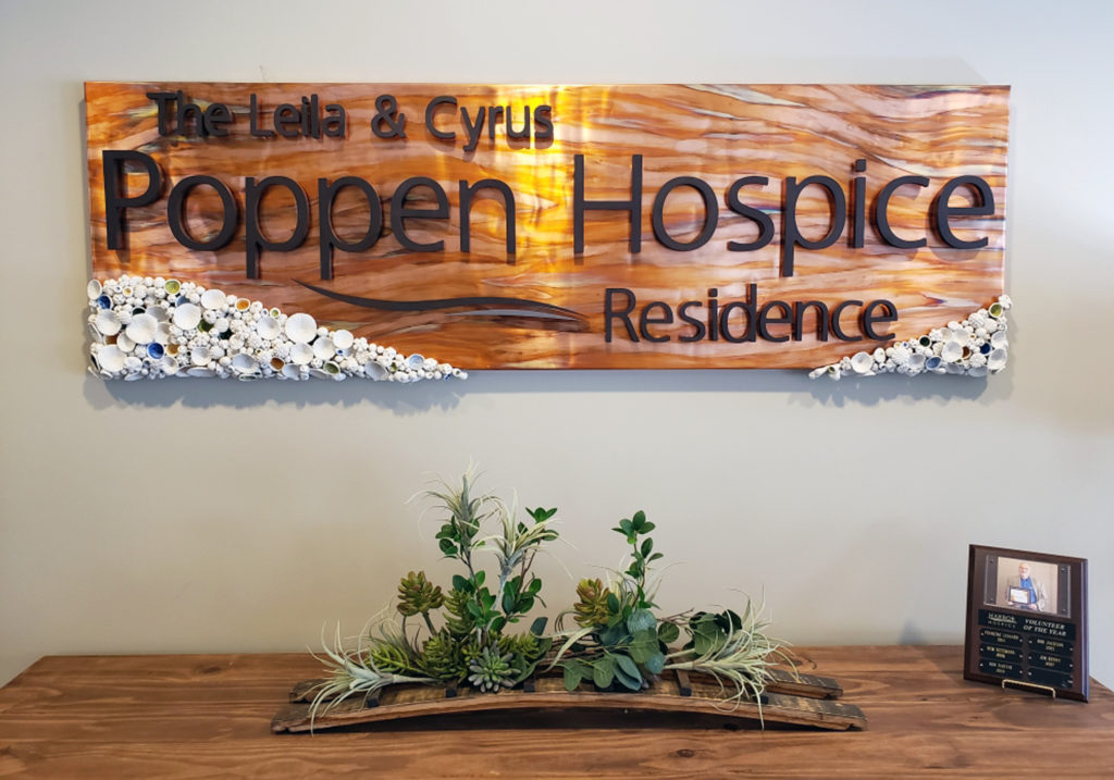 Finished Sign 3 1024x717 - New sign welcomes patients and families.