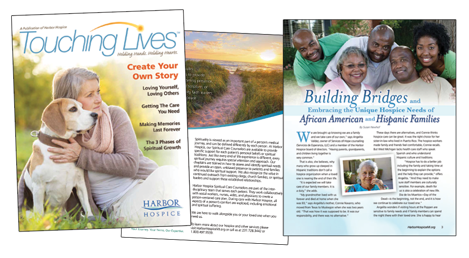 Three Pages Spread - Touching Lives