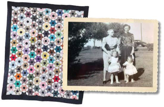 Quilt and Picture - Grandma's Stars Keep Shining