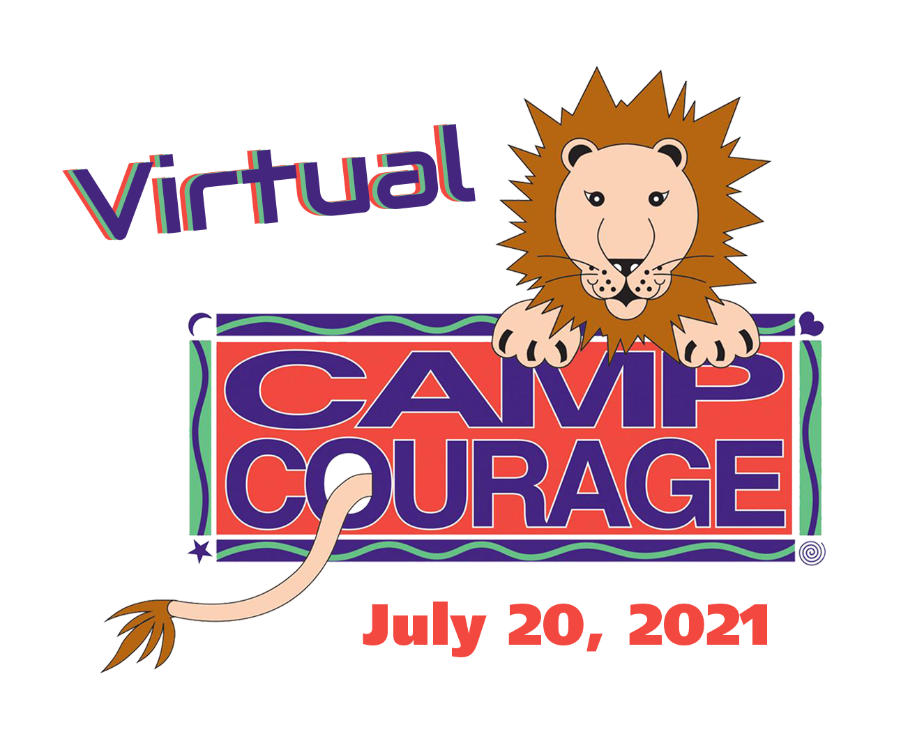 Virtual Camp Courage Logo with Date - Virtual Camp Courage- 28th Annual Children's Grief Camp