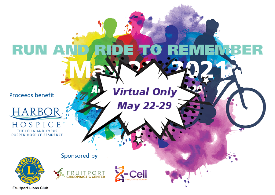 Full RR2R Image website virtual only - Virtual Run and Ride to Remember to benefit Poppen Hospice Residence
