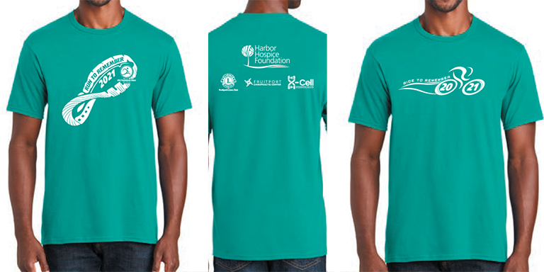 Both RR2R T shirts - Run and Ride to Remember