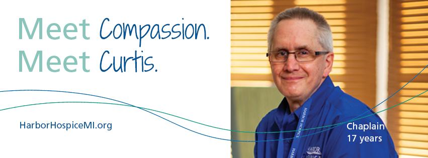 HH Meet Compassion. Meet Curtis 2021 Facebook Header - Meet Compassion. Meet Curtis.